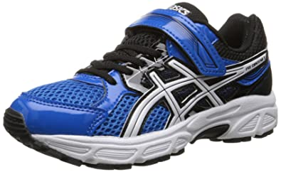 ASICS Pre Contend 3 PS Running Shoe (Little Kid), Electric Blue/White