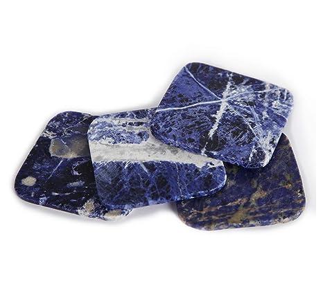 Amazon.com: AMOYSTONE - Posavasos de piedra natural para ...