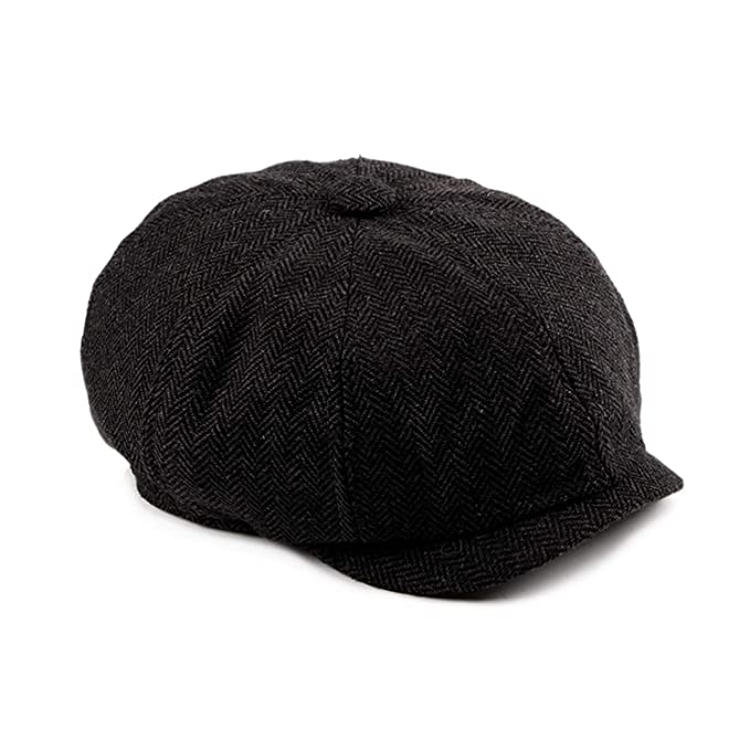 161409c627a Image Unavailable. Image not available for. Color  Tweed Gatsby Newsboy Cap  Men Autumn Winter Hat Golf Driving Flat Cabbie Flat Berets Hat Peaky