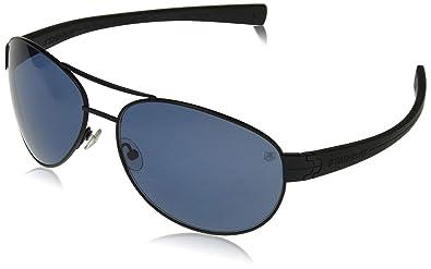 TAG HEUER Unisex-Adult Lrs Automatic 0253 401 Polarized Rectangular Sunglasses, black, 62 mm