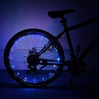 ShinePick - Luces LED para rueda de bicicleta (impermeables ...