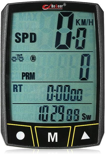 LCD Digital Bike Cycling Computer Waterproof Odometer Speedometer Stopwatch US