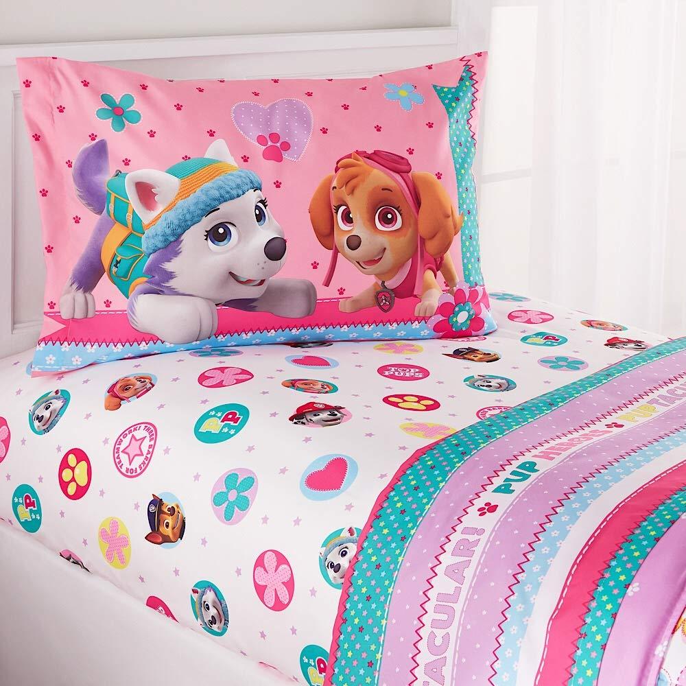 Nickelodeon Paw Patrol Girl 4-Piece Full Sheet Set by Nickelodeon Kids