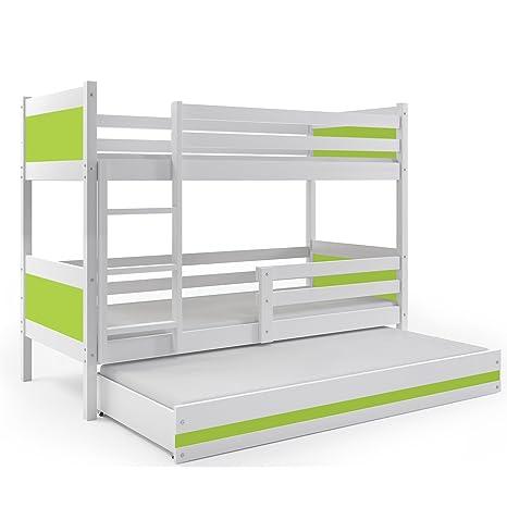 BMS Group LITERA Infantil Triple (3 Camas) 190x80, Color Blanco (LOS Paneles EN Varios Colores) (Gris): Amazon.es: Hogar