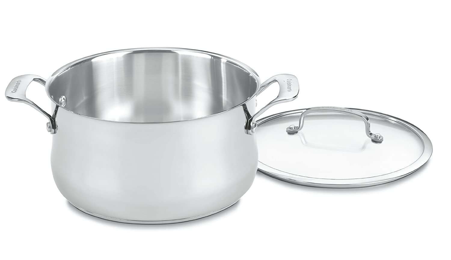 Cuisinart 444-24 Contour Stainless 6-Quart Saucepot with Glass Cover