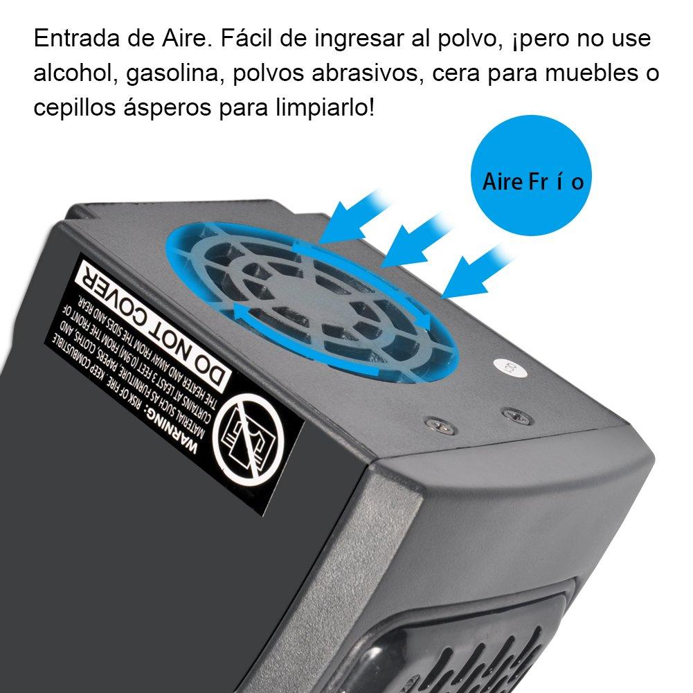 400W Estufa Eléctrica Portátil Calentador Eléctrico de Radiador de Pared Temperatura Regulable Calefactor de Bajo Consumo con Pantalla LED Ajustable ...