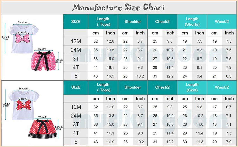 Stven Hetick Little Girls Summer Clothes Sets Cute Outfits Polka Dot Skirt Set
