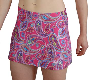Faldas de Padel/Tenis con Pantalon. Estampada con Motivos de Cachemire Sobre Fondo Fucsia, XXL: Amazon.es: Deportes y aire libre
