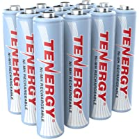 12-Pack Tenergy AAA 1.2V Triple 1000mAh Rechargeable Battery