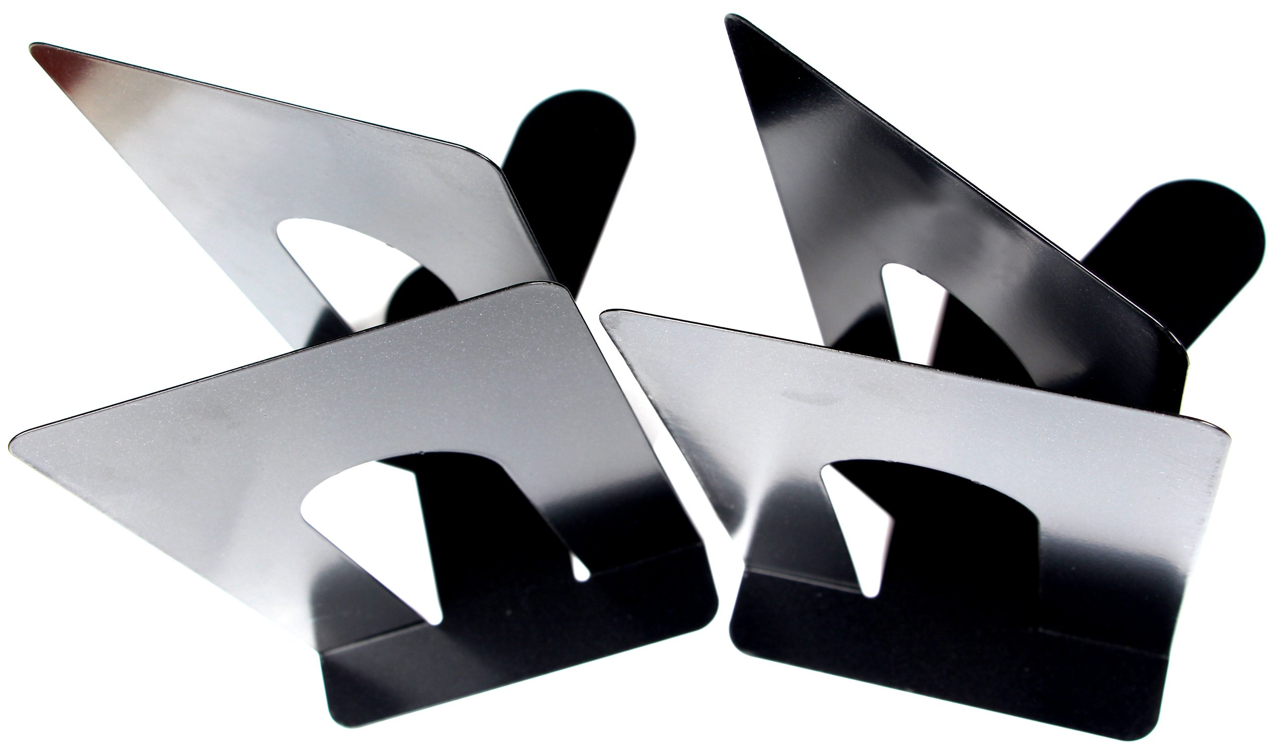 Economy Bookends Universal Black Heavy for Office,8 Inch, 4pcs(2 Pairs) by Sun Cling by Sun Cling (Image #3)