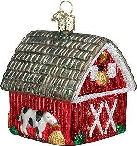 Old World Christmas Farm Animals Glass Blown Ornaments for Christmas Tree Barn