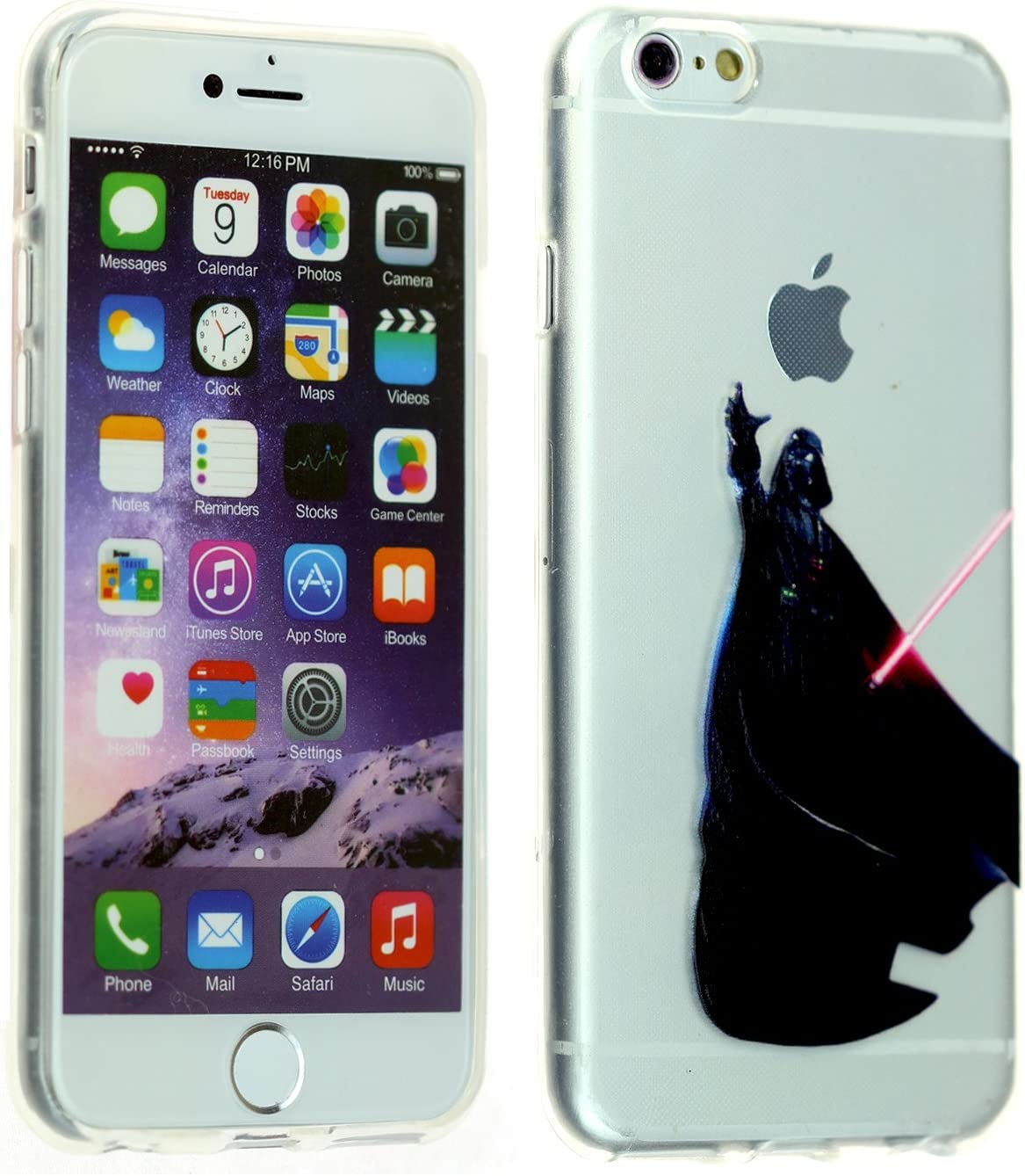 for iPhone SE, 7,iPhone 8 Case, DURARMOR FlexArmor Darth Vader Holding Apple Soft Flexible TPU Bumper Case Ultra Thin ScratchSafe Drop Protection Case Cover for iPhone 8 Darth Vader Apple