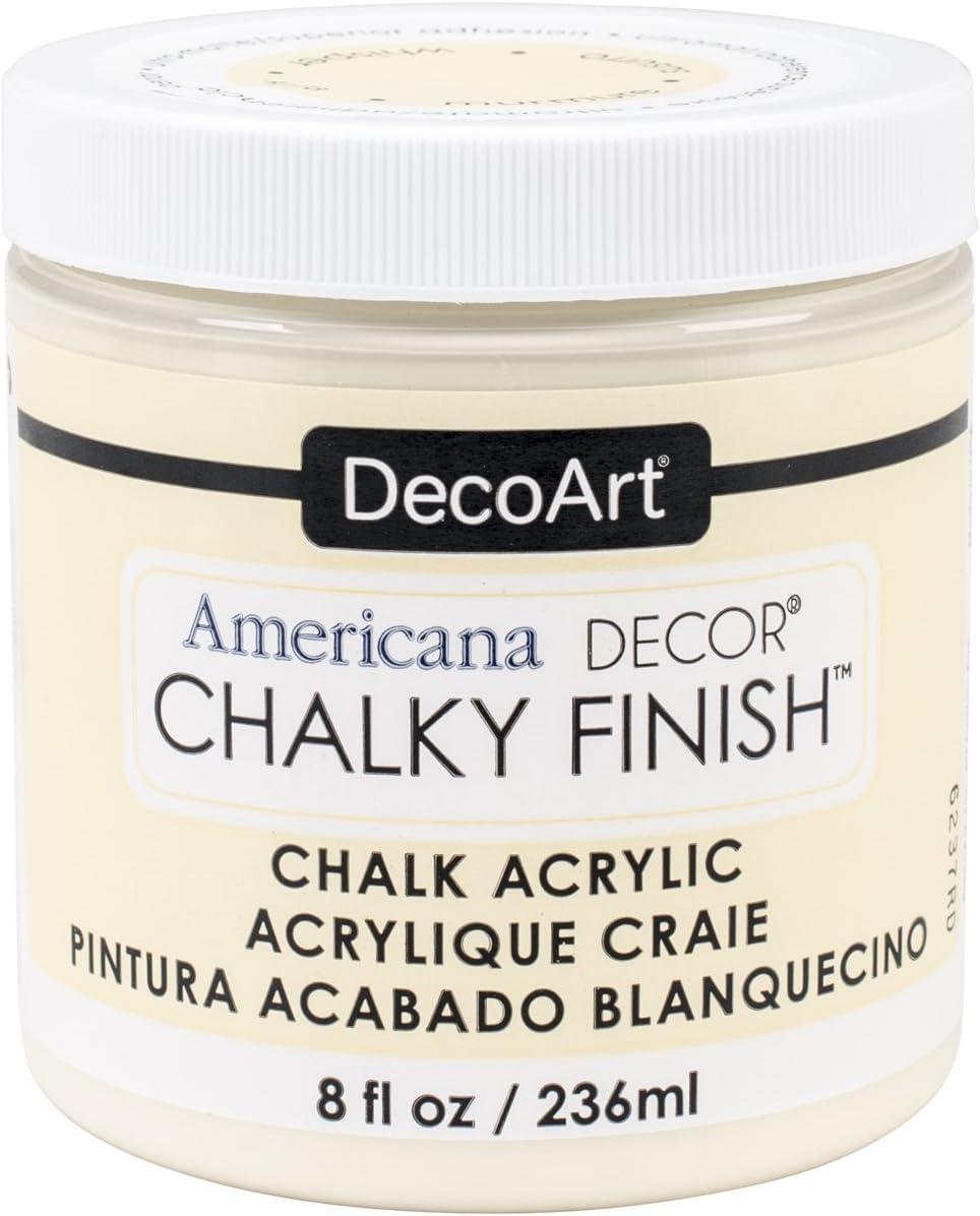 Deco Art ADC-03 Americana Chalky Finish Paint, 8-Ounce, Whisper