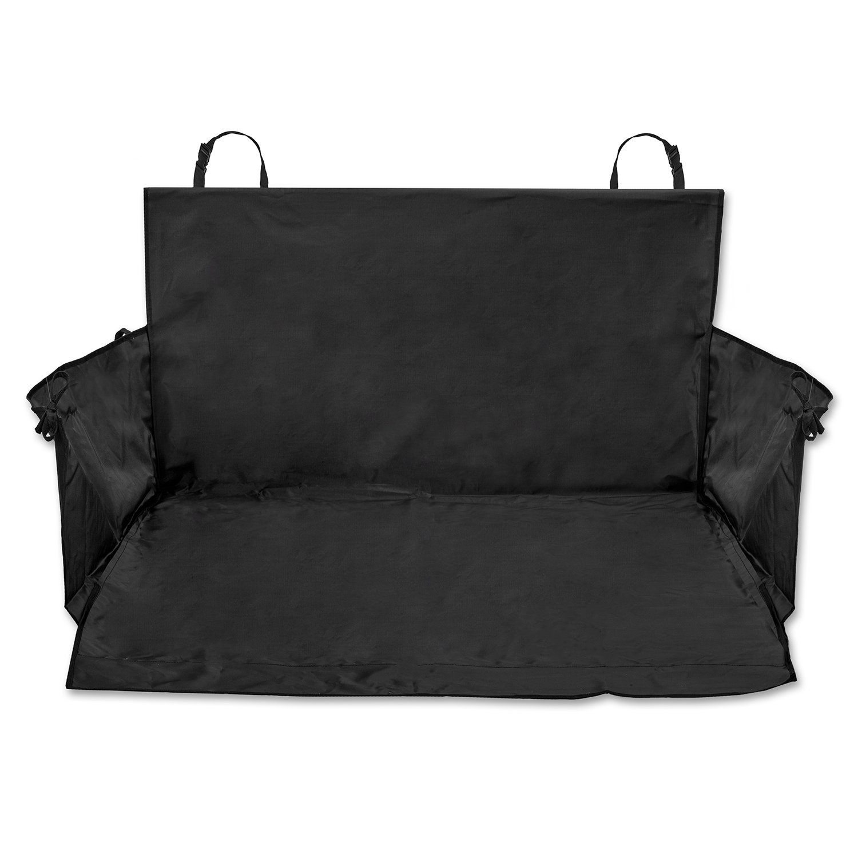 CARTECO Universal-Kofferraumdecke mit Seitenschutz, schwarz - Auto-Schondecke, Kofferraum-Schutzdecke fü r Hunde eSpring GmbH