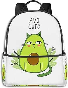 Vector de Dibujos Animados Imprimir con Aguacate Gato
