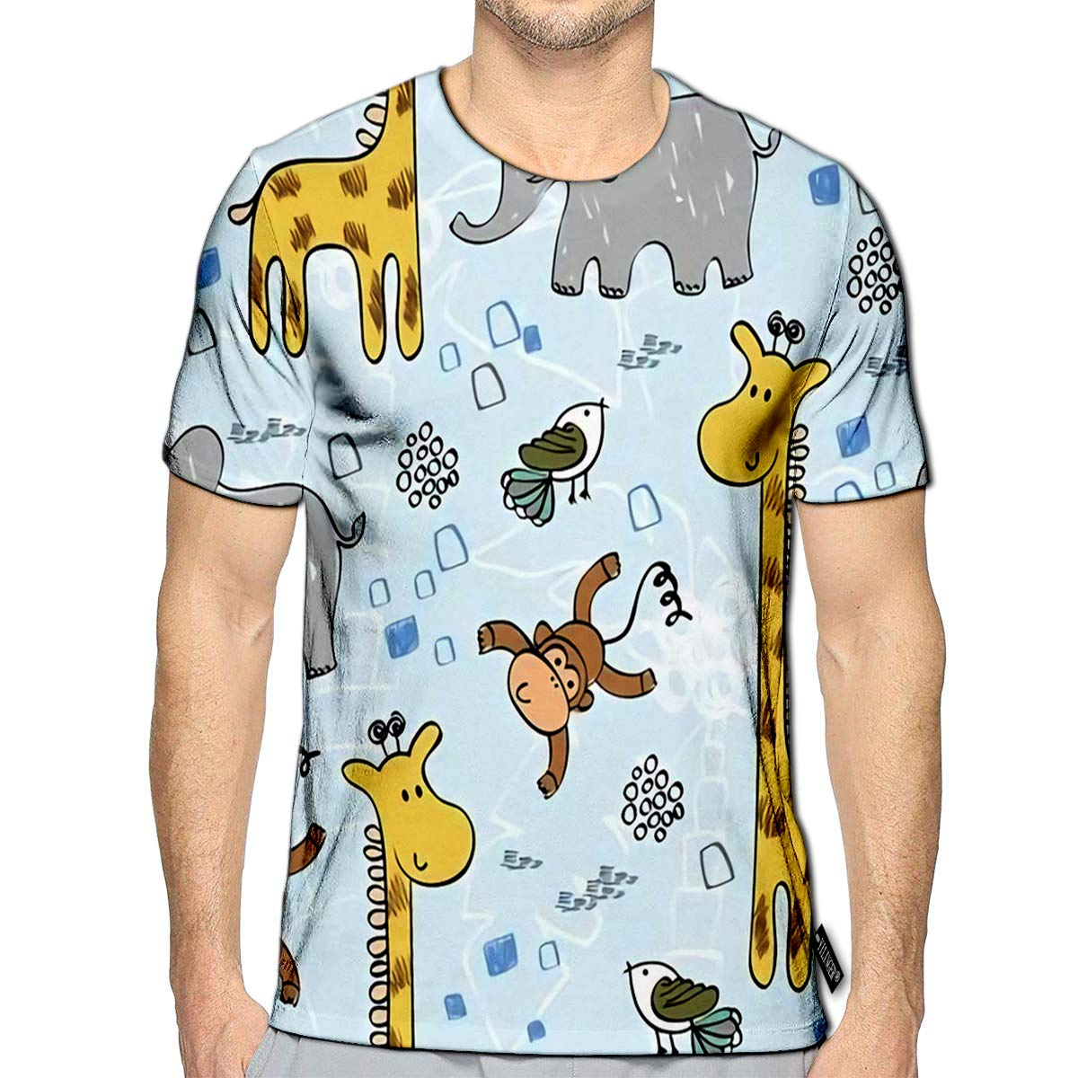 3D Printed T-Shirts Babies Hand Draw with Animals Short Sleeve Tops Tees