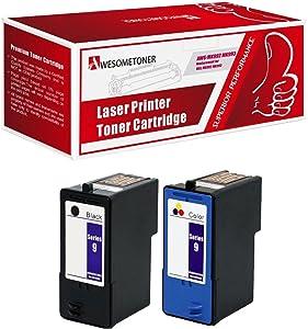 2 Pack Remanufactured Dell (Series 9) MK992 Black and MK993 Color Ink Cartridges for Dell 926, V305, V305W Printers