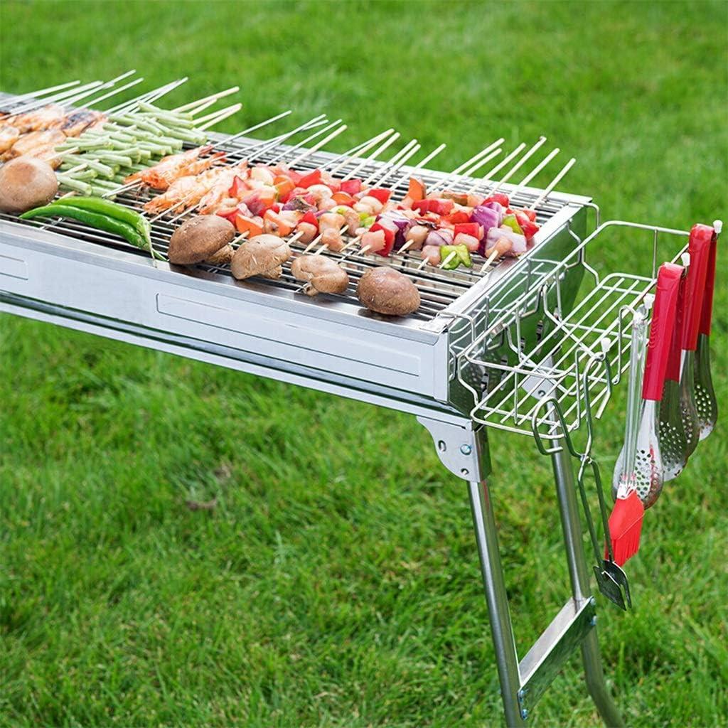 Grille de barbecue en acier inoxydable pour barbecue, barbecue en plein air, ménage pliant, four portable A