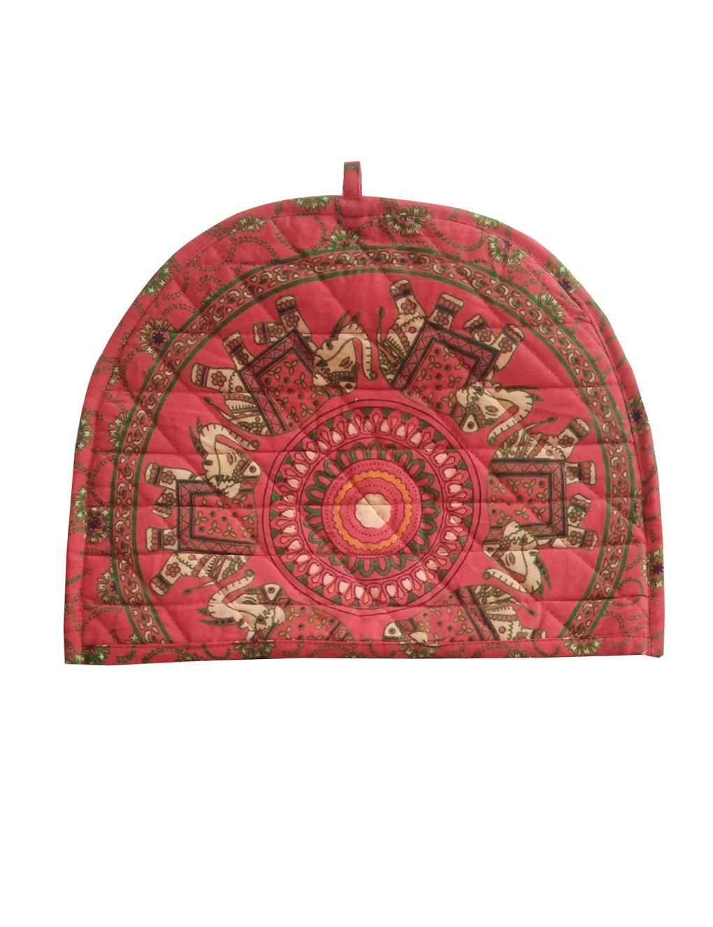 Indian Cotton Mandala Blue Elephant Printed Tea Cosy Abstract Tea Pot Décor Cover Traditional Tea Quilt Floral Warmer Tea Cozies Insulated Gift Shubhlaxmifashion HDOT0030