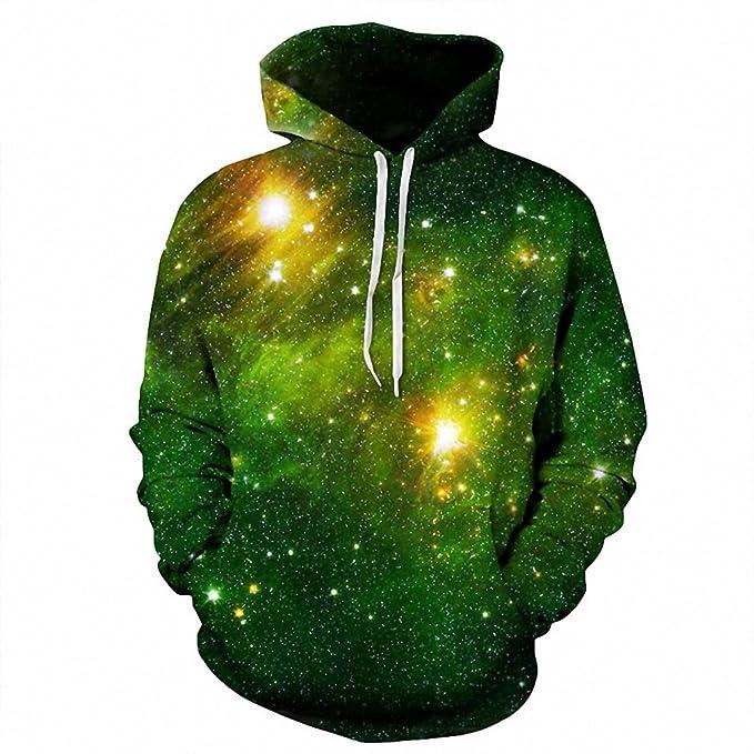 Womens Mens Space Galaxy Nebual 3D Print Zip Up Hoodie Sweatshirt Jumper Jacket