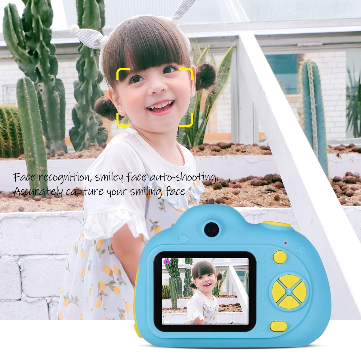 Kids Cameras Dual Selfie Digital Camera HD Video Recorder Action Camera Camcorder for 4-9 Year Old Kids Birthday Festival Gifts Toys for Children Boys Girls 2.0'' LCD Screen 4X Digital Zoom (Blue) by Tyhbelle (Image #3)