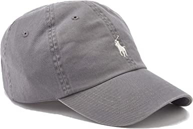 Polo Ralph Lauren - Gorra deportiva (algodón), color gris: Amazon ...