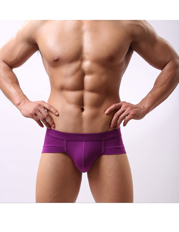 Legou Mens Modal Solid Color Underwear Trunks