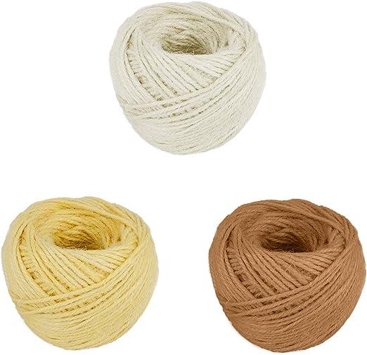 Cordón artesanal de hilo de yute de 3 piezas, cordón de jardín ...