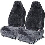 Sheepskin Seat Covers 100 Authentic Australian for Auto Car Tuck Van - Dark Gray - 2pc