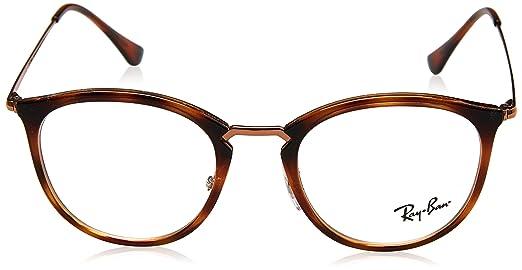 104b82da7af Amazon.com  Eyeglasses Ray-Ban Optical RX 7140 5687 STRIPPED HAVANA   Clothing