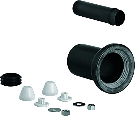 Grohe 37311k00 Wall Carrier Toilet Inlet And Outlet Connecting Set Black Pipe Fittings Amazon Com