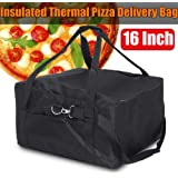 16 Inch Insulated Pizza Delivery Bag,Portable Durable Pizza Delivery Bag,Commercial Grade Food Delivery Bag-Red