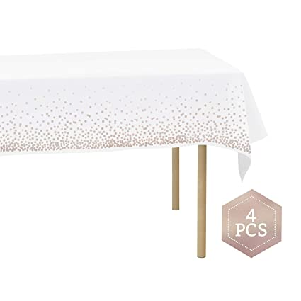 Awe Inspiring Plastic Table Cloths For Rectangle Tables Waterproof Heavy Duty Disposable Tablecloths Ideal For Parties And Events White Tablecloths Decorative Ibusinesslaw Wood Chair Design Ideas Ibusinesslaworg