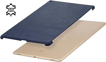 """StilGut Cover, Custodia in vera pelle per Apple iPad Pro 12.9"""" (2015), Backcover adatto anche a Smart Keyboard, Blu Navy"""