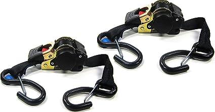 1,85 m 2 cinghie di tensionamento automatiche e avvolgibili reggiatura EN 12195-2 cinghie a cricchetto cinghie di fissaggio con avvolgitore automatico Iapyx/® 600 kg