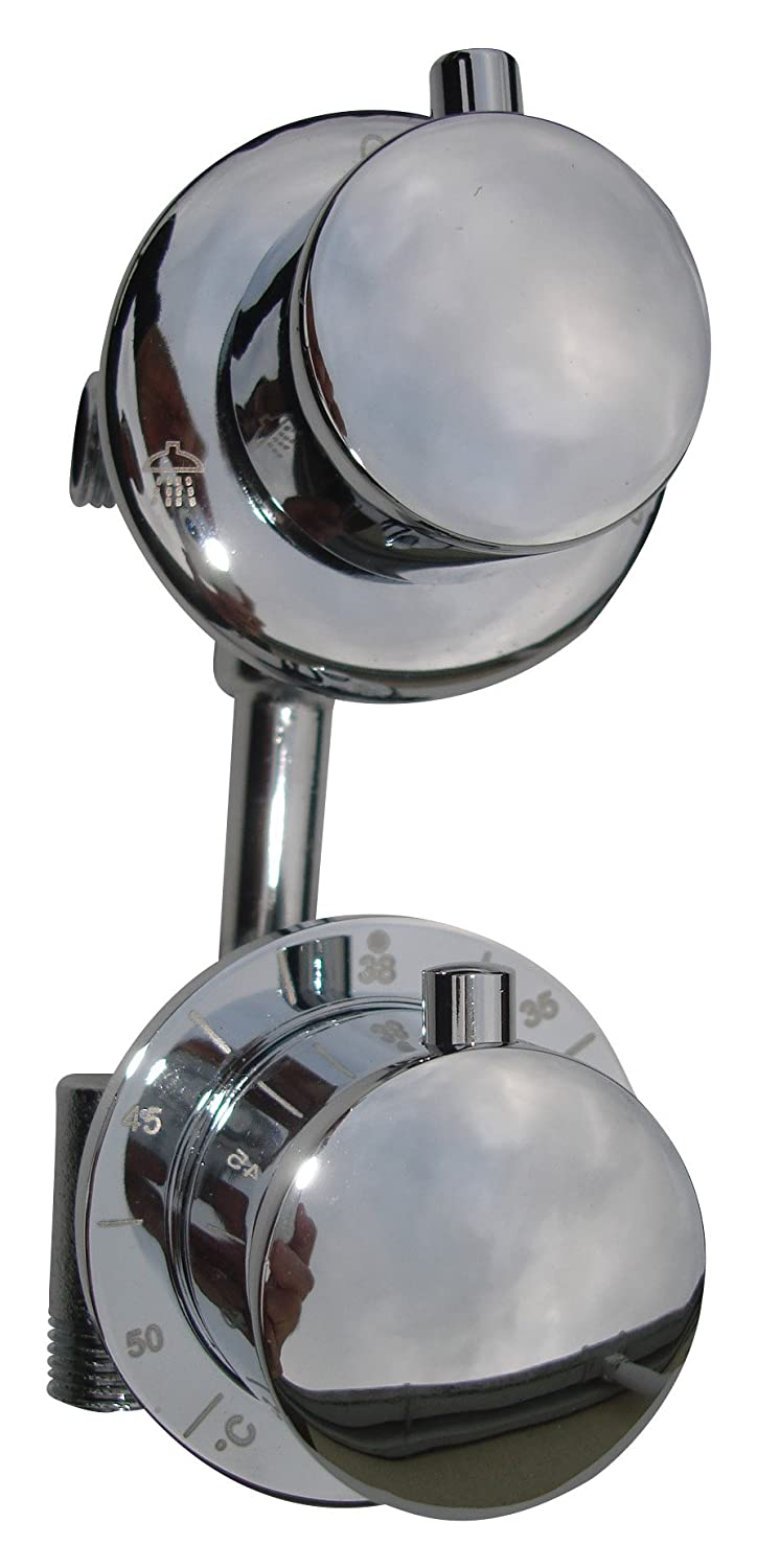Dual Outlet Functions, 2 Way, Concealed Style, Thermostatic Diverter Shower Mixer Taps Valve - OurTaps 046N