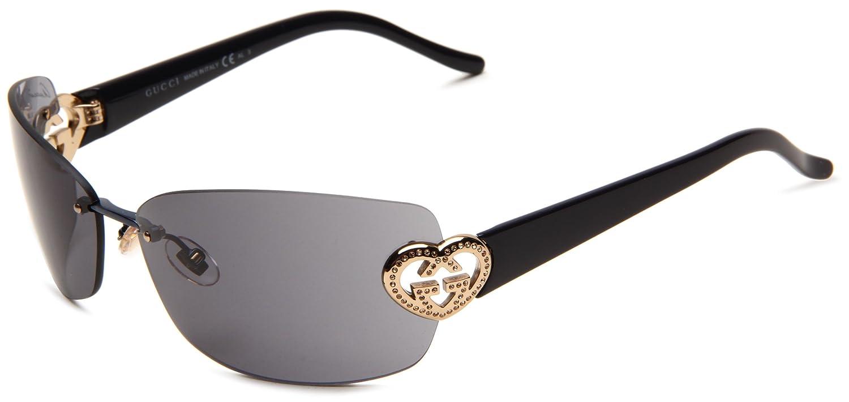 b6ad01fc0 Amazon.com: Gucci Women's 4201/S Rimless Sunglasses,Blue Frame/Grey  Lens,One Size: Shoes