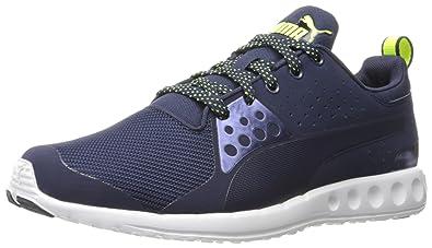 PUMA Men's Valor Mesh Running Shoe, Peacoat/Safety Yellow, ...