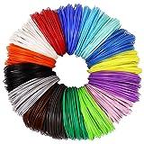 3D Pen PLA Filament Refills 1.75mm, 16 Colors, 10