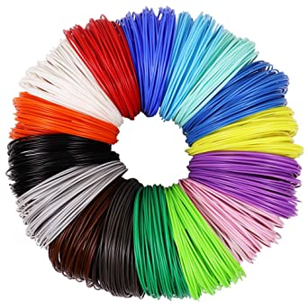 amazon 3d pen pla filament refills 1 75mm 16 colors 10 foot  3d pen pla filament refills 1 75mm 16 colors 10 foot per color