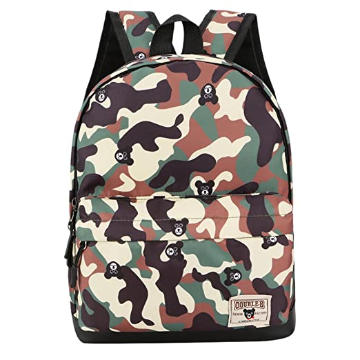 dee12220866a MaxFox Childern Camouflage Pattern Print Shoulder Bag Kids Nylon School  Backpack