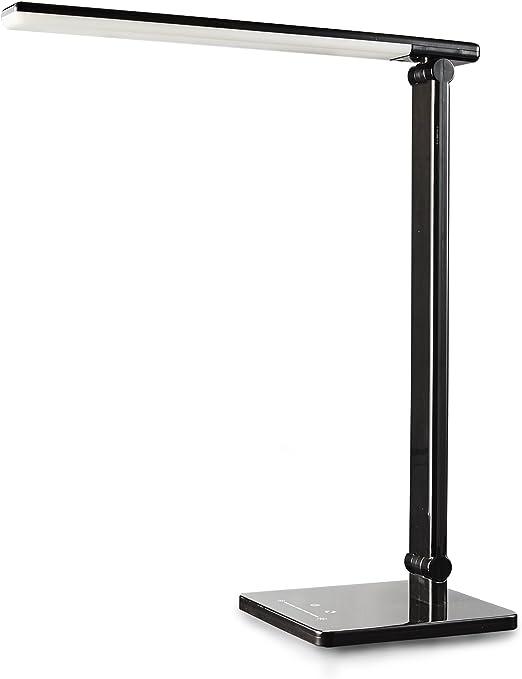 Lampe de Bureau LED,Kilponen Lampe de Bureau avec 5 Modes de Temp/érature de Couleur 10 Niveaux de Luminosit/é Lampe de chevet R/églable Multi-Angles avec Commande tactile et Fonction de Synchronisation