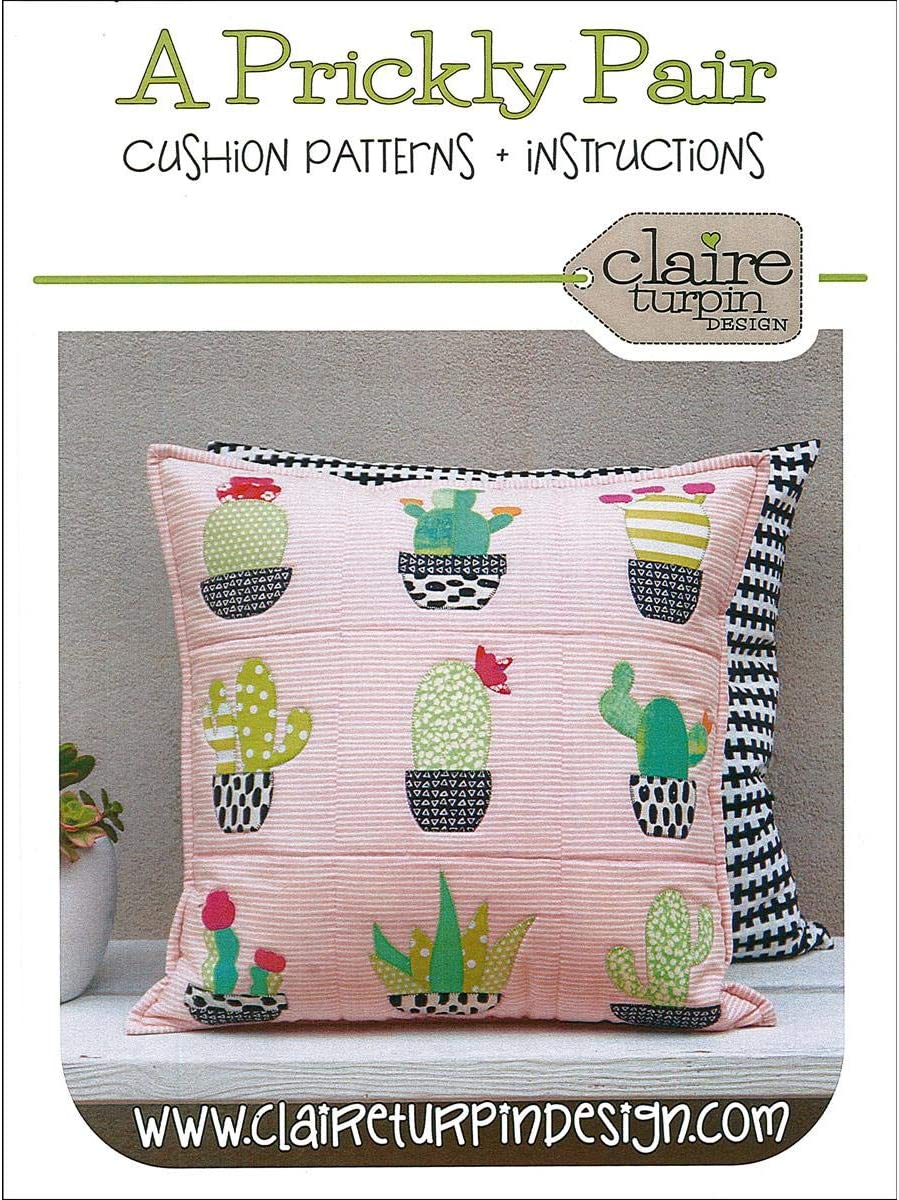 Claire Turpin Design Pattern Prickly Pair Pillow
