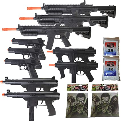 Amazoncom Mega Airsoft Party Package 10 Doa 6mm Airsoft Guns