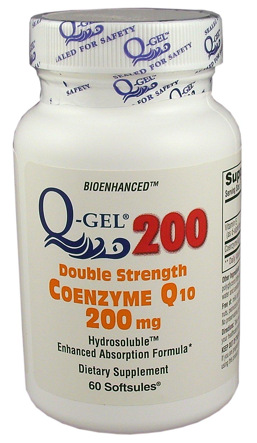 Q-Gel 200mg Double Strength Hydrosoluble CoQ10 (180 Softgels)