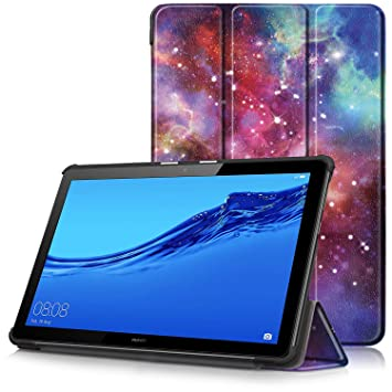 separation shoes 9b9ca e7c30 Huawei MediaPad T5 10 Case - Ultra Slim Lightweight Smart Shell Stand Cover  Case for Huawei MediaPad T5 10-Inch Tablet 2018 Release, Milky Way