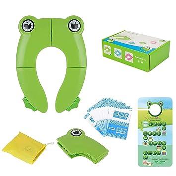 Kids Potty Training Travel Portable Foldable Toddler Toilet Safe Seat Plastic A