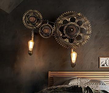 Licht H Wandleuchten Loft Retro Wandleuchte Mechanische Zahnrad Wand Lampe  Studio Industrial Style Bar Works Beleuchtung