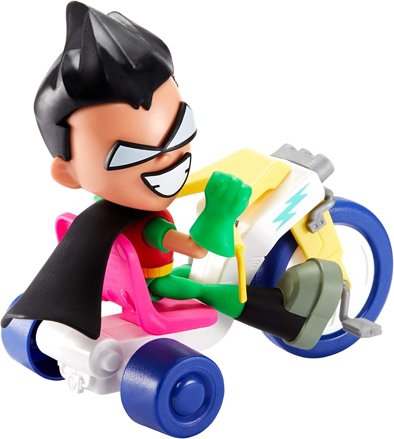 to The Movies Robin /& Time Cycle Figure /& Vehicle DC Comics Teen Titans Go