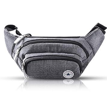 Evaduol Gürteltasche Bauchtasche Multifunktionale Hüfttasche 5 Fächer mit Reißverschluss Geeignet für Reise Wanderung und Alle Outdoor aktivitäten